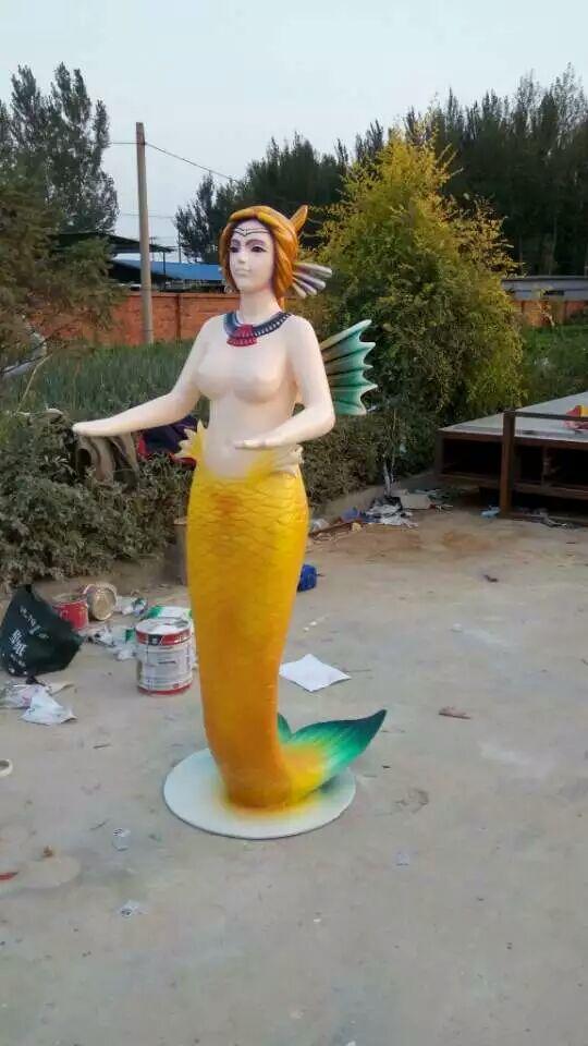 美人鱼玻璃钢塑