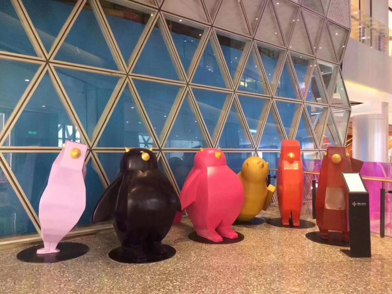 玻璃钢企鹅雕塑