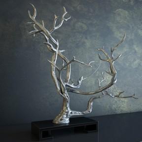树枝雕塑模型
