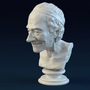 老人雕塑模型