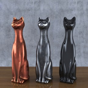猫咪雕塑模型