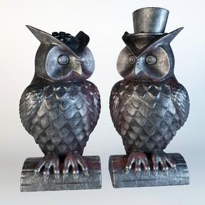 猫头鹰雕塑模型