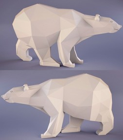 熊模型雕塑