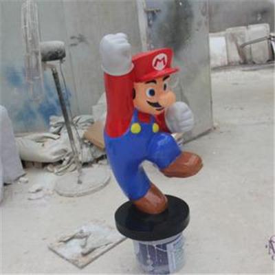 泡沫卡通人物雕塑:马里奥