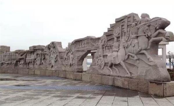 大型古代战争雕塑